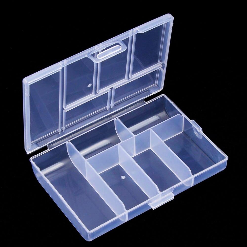 Горячая Распродажа мини 6 сетки ювелирные изделия Организатор Коробка для хранения случае Пластик прозрачный монета pill случае органайзера ... ...