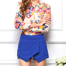 Womens Skorts Shorts Mini Asymmetrical EL01