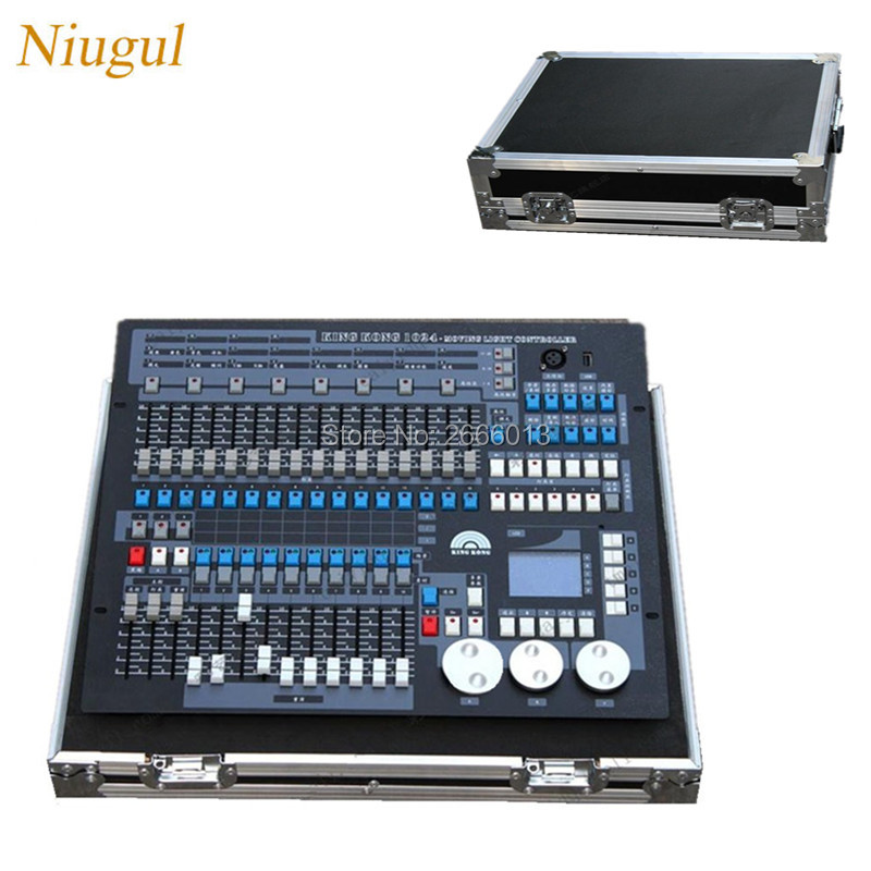 With flight case 1024 DMX Lighting Consoles Professional Stage Light DJ Disco Equipment DMX controller for LED Beam moving Head lightme professional stage dj dmx stage light 192 channels dmx512 controller console dj light for disco ktv home party night