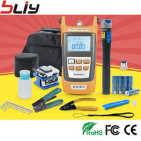 Fiber Optic FTTH Tool Kit With FC 6S Fiber Cleaver And Optical Power Meter 5km Visual