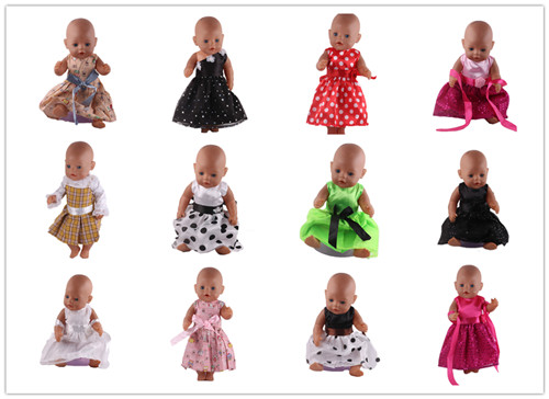 High quality 15 Colors Princess Dress Doll Clothes for 43cm Baby Born Zapf Doll Clothes and Accessories best gift for children high quality 15 colors princess dress doll clothes for 43cm baby born zapf doll clothes and accessories best gift for children