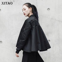 XITAO New Arrival Spring Korea 2018 Casual Women Stand Collar Solid Color Short Coats Female