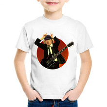 ACDC Print T-Shirt Boys Girls Toddlers Kids