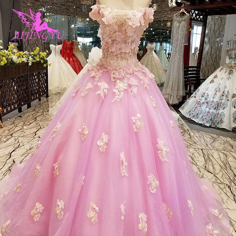 AIJINGYU robes de mariée Junior robes uniques mariée achats en ligne Designers robe de mariée robe de mariée avec luxe détachable - 3