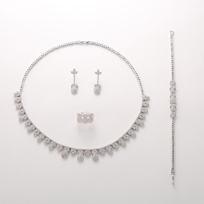 Image 2 - Женский набор из циркония Hadiyana, роскошный набор из циркония AAA для свадьбы, 2018Ювелирные наборы