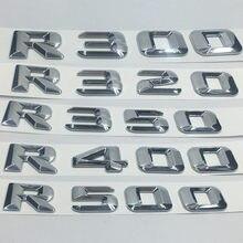 Para Mercedes Benz R300 R320 R350 R500 R400 Trunk Lid Traseiro Do Emblema Do Emblema Do Cromo Do Palavras Letras