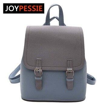 JOYPESSIE Tassel Women Small Backpack PU Leather Backpack Cute School Bags for Girls Fashion Shoulder Bag Female Backpack