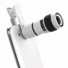 Universal Cell Phone Telescope Telephoto Camera Lens 8X Zoom Manual Focus Clip-on Camera Lens for iPhone7 plus Samsung Galaxy S8
