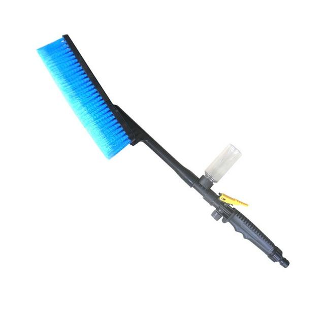 새로운 블루 세차 브러쉬 호스 어댑터 청소 물 스프레이 자동차 청소 브러시 차량 트럭 세척 케어 액세서리