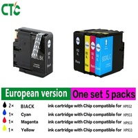 5pcs Full Ink Compatible For HP932 933 Ink Cartridges 932XL 933XL For Hp OfficeJet 6100 6600