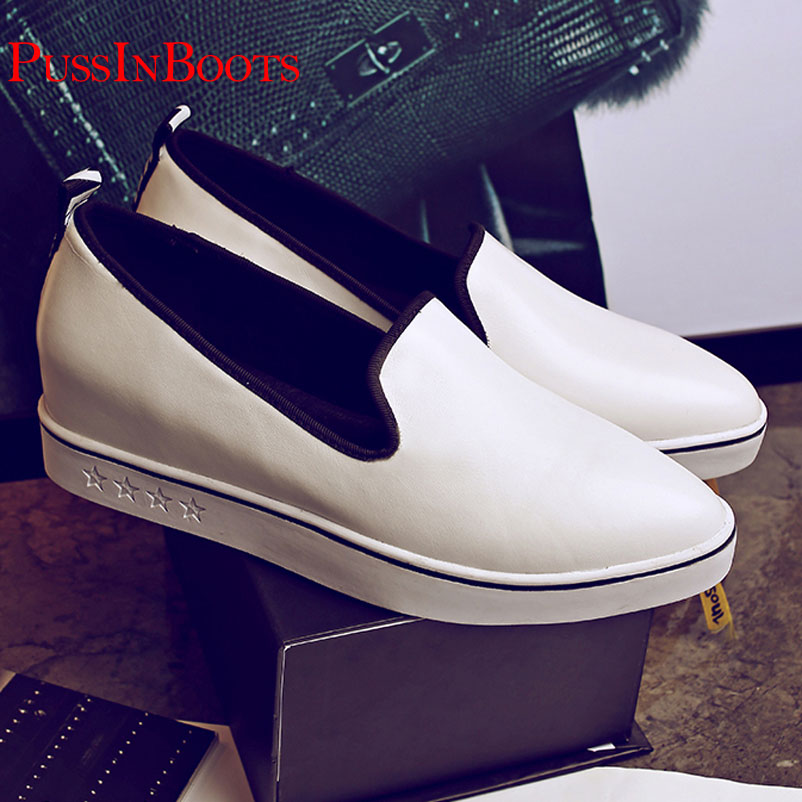 ФОТО 2016 Fashion Women Shoes Genuine Leather Famous Womens Party Dress Shoes Female Pointed Shoes For Ladies Dress White Famous