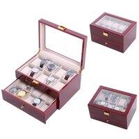 20 그리드 손수 나무 시계 상자 나무 시계 상자 시계 케이스 시계 상자 시계 지주