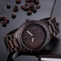 Luxury Mens Unique Gift Full Wooden Watches Man Creative Sport Bracelet Analog Natural Wood Quartz Wristwatch