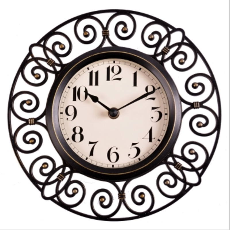 Wall Clock Designs For Home : Inch crafts vintage decorative wall clock modern design