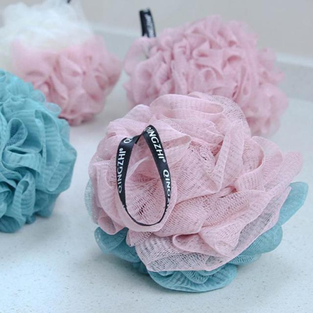 NEW Massage Body Wash Bath Scrubber Shower Spa Mesh Ball Body Cleaning Scrub Random Colors Flower Bath Ball