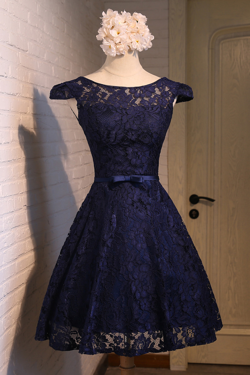 Cheap Plus Size Navy Blue Bridesmaid Dresses