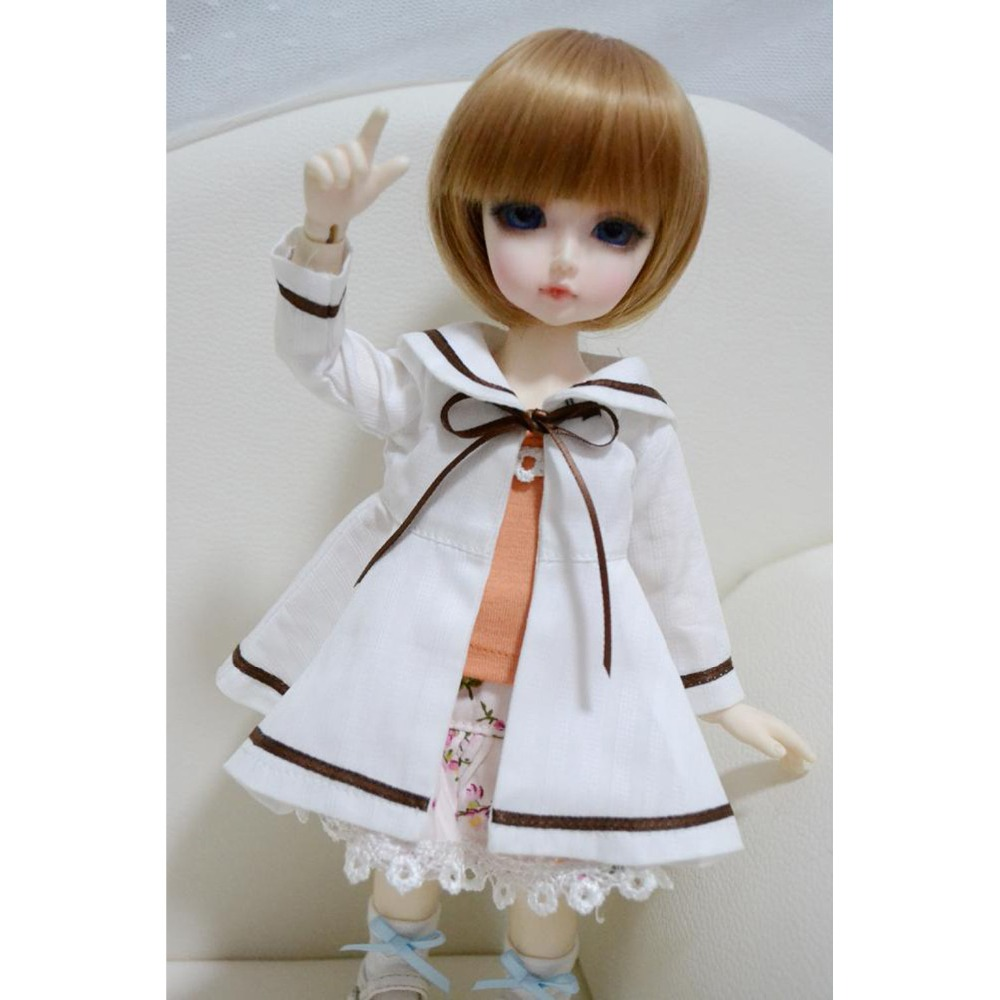 [wamami] 124# White 3pc Dress/Clothes/Outfit 1/6 AOD SD DOD BJD Dollfie [wamami] aod 1 6 bjd dollfie girl doll parts single head not include make up ni ni