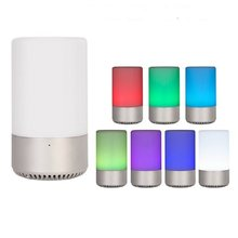 DASENLON Bluetooth Speaker, Touch Control Colorful RGB Bluetooth Smart LED Music Light Speaker Without Mobile APP(China)
