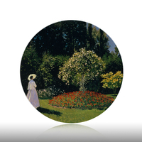Laude Monet Painting Wall Hangings Plates Ceramic Home Decorative Dish Hotel Living Room Background Display Oil Painting Plates