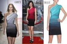 Schulter Verbandkleid, Figurbetontes Kleid Cocktail Party Kleid HL098 # XS S M L