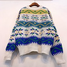 NiceMix 2019 Christmas sweatersWomen Long Sleeve Loose Pullover Women Warm Basic Sweaters Korean Style Cashmere Knitted