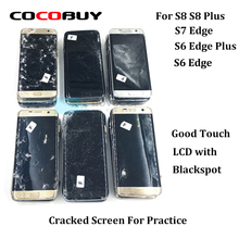 5 pcs Broken Edge Screens For Practice- Touch works fine and image with defects for samsung s8 plus s6 edge s7 edge+