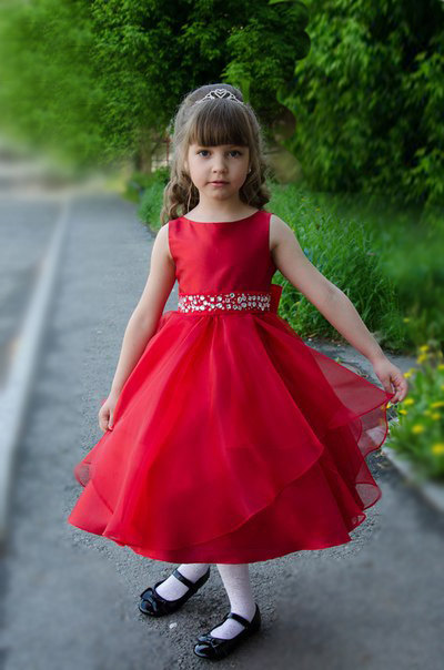 Hand Make First Communion Dress A Line Red Flower Girl Dresses For Weddings Sleeveless Mother Daughter Dresses For Girls Party цена и фото