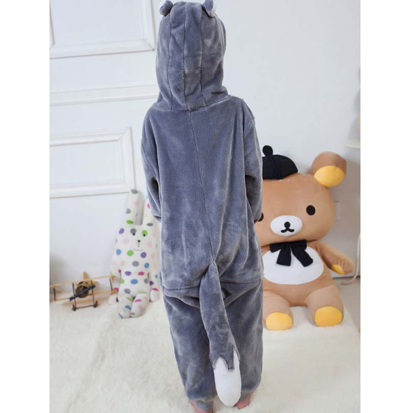 fc9b482ad062 Grey Wolf Overalls Jumpsuit with Pockets Children Cosplay Costume Kigurumi  Onesie Blanket Sleepers Kids Pajama Hips With Zipper-in Blanket Sleepers  from ...