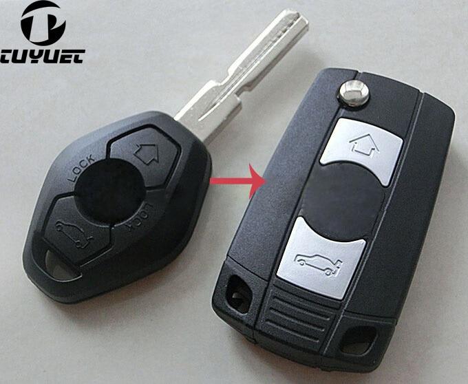 Clés pliantes pour boîtier de clé à rabat pour BWM 3 5 7 SÉRIE Z3 Z4 E38 E39 E46 Convient pour BWM 3 boutons