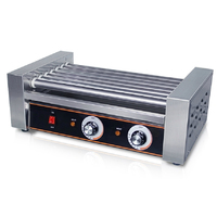 7 Roller 18pcs Hot Dog Grill Machine With CE Hot Dog Griller Sausage Machine With Cover