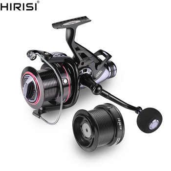 Hirisi Carp Fishing Reels Bait Runner Big Free Runner Double Brake Feeder 10+1 Ball Bearing Spinning Fishing Reel HQ8000 - SALE ITEM Sports & Entertainment