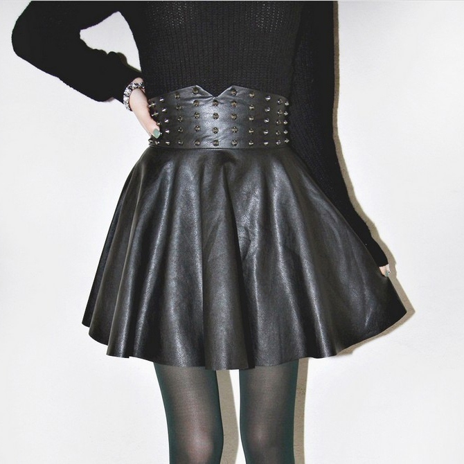 Online Get Cheap Faux Leather Flared Skirt -Aliexpress.com ...