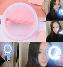 36 LED المحمولة Selfie Lgiht كاميرا ليد كليب على الهاتف المحمول Selfie مصباح مصمم على شكل حلقة الفيديو الضوئي ليلة تعزيز ملء الضوء