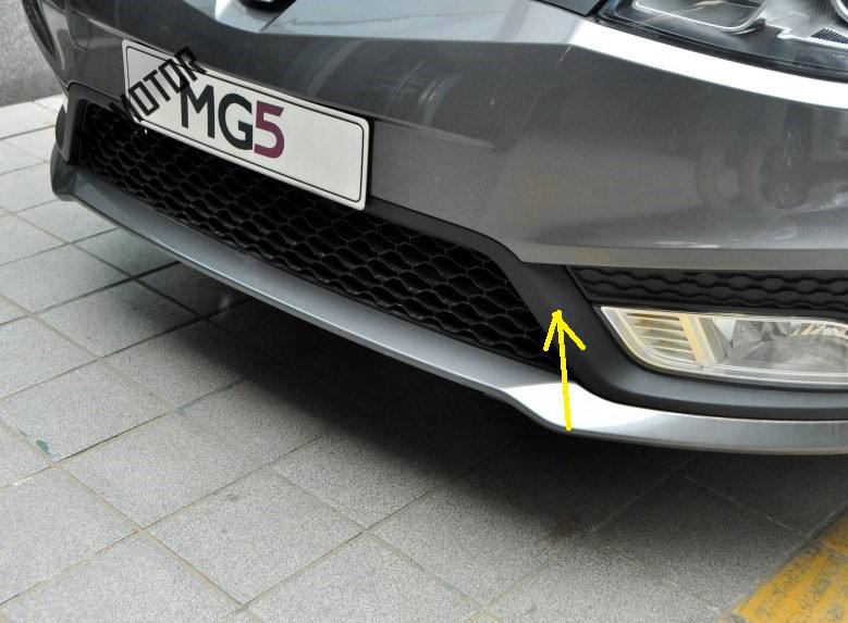 1pcs Foglight trim strip left / right side black color plastic for Chinese SAIC ROEWE MG5 Auto car motor part 10076566