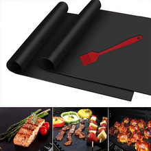 Extra Thick 2/4/5pcs Heat Resistant Baking Mat BBQ Grill Reusable Non-stick Barbecue Grilling Sheet Liner