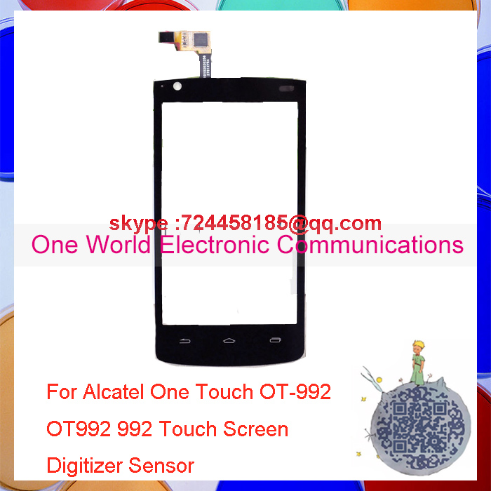 One World 1pcs lot Original Quality For Alcatel One Touch OT 992 OT992 992 Touch Screen