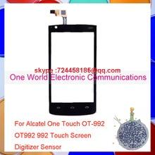 One World 1pcs/lot Original Quality For Alcatel One Touch OT-992 OT992 992 Touch Screen Digitizer Sensor Pancel Free Shipping