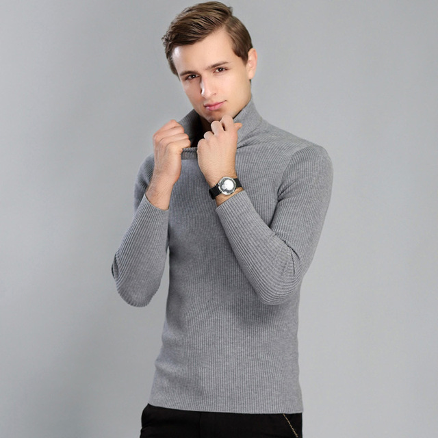 Высокое качество зимний свитер Для мужчин Трикотаж пуловер тонкий водолазка бренда Мужская одежда Свитеры для женщин в полоску Тонкий мужской свитер тянуть