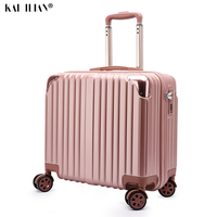 Travel Cabin Suitcase ABS+PC luggage 18 inch trolley suitcase travel password luggage bag Rolling luggage with spinner wheel bag