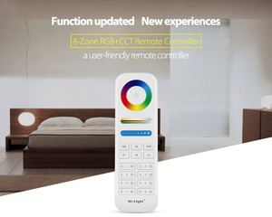 Image 4 - Mi Light 2.4G wireless 8 Zone RF dimmer FUT089 remote B8 Touch Panel Wall mounted rgbww  LS2 5 in 1 led controller for RGB+CCT