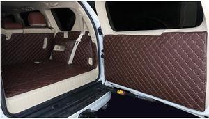 Image 4 - Volledige set kofferbak matten & back deur mat voor Toyota Land Cruiser Prado 150 7 zetels 2018 2010 cargo liner boot tapijten