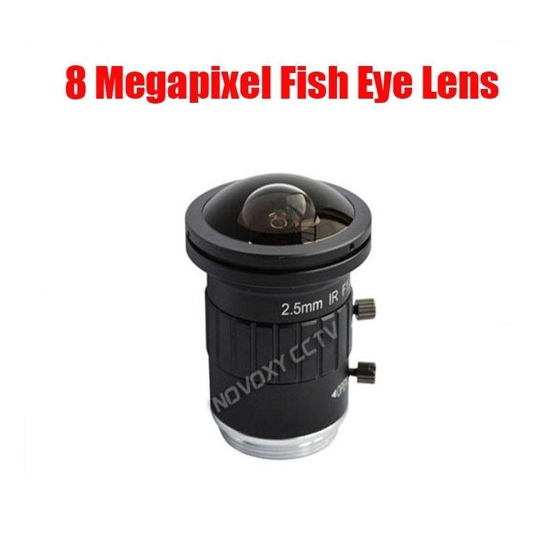 DIY 8 Mégapixels HD 2.5mm Fish Eye Objectif CCTV CS Mont 8MP 2/3