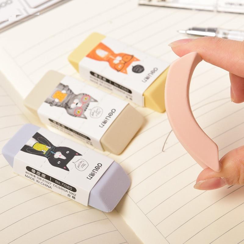 1 Pack 32Pcs 4 Colors 4B Rubber Eraser For Kids 25X60X10mm Pencil Eraser School Supplies Office Supplies Deli 71080