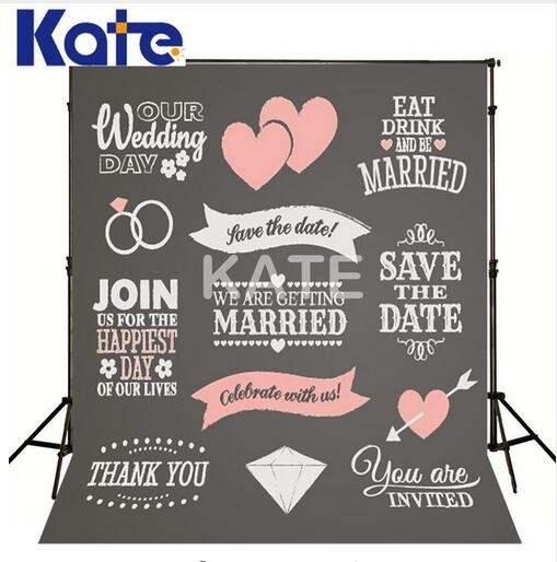 חתונה מותאם אישית גנאי תאריך Photocall קייט צילום סטודיו צילום חתונה תפאורות גיר רקע להזמין חתימה