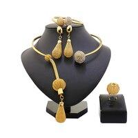 מותג תכשיטי זהב דובאי 2017 הגעה חדשה שמלת חתונה גדולה ניגריה אפריקה סטי תכשיטי פרל תכשיטי סט מלא של תכשיט