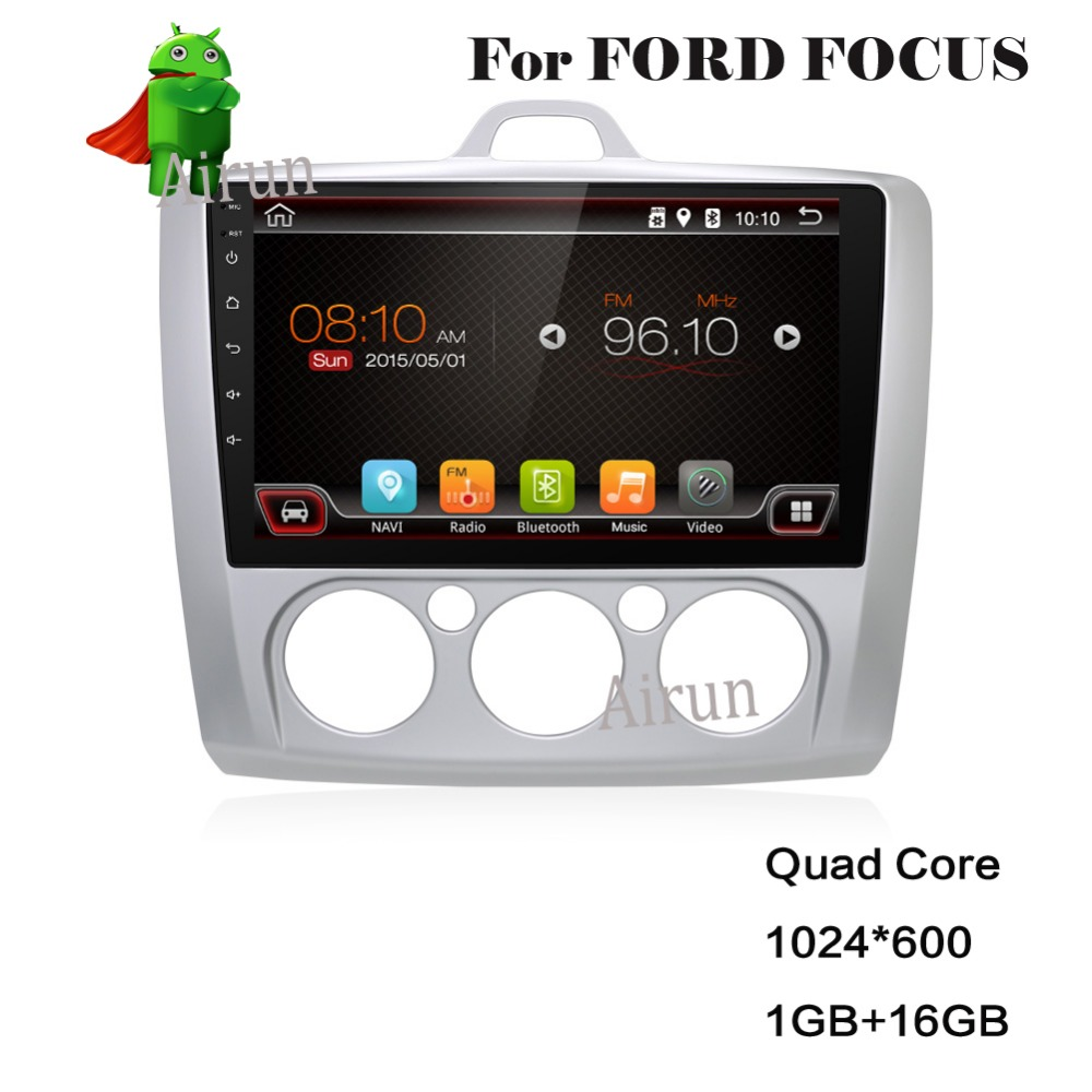 Voor 9 inch Pure Android Car DVD GPS voor Ford focus 2 Android met - Auto-elektronica