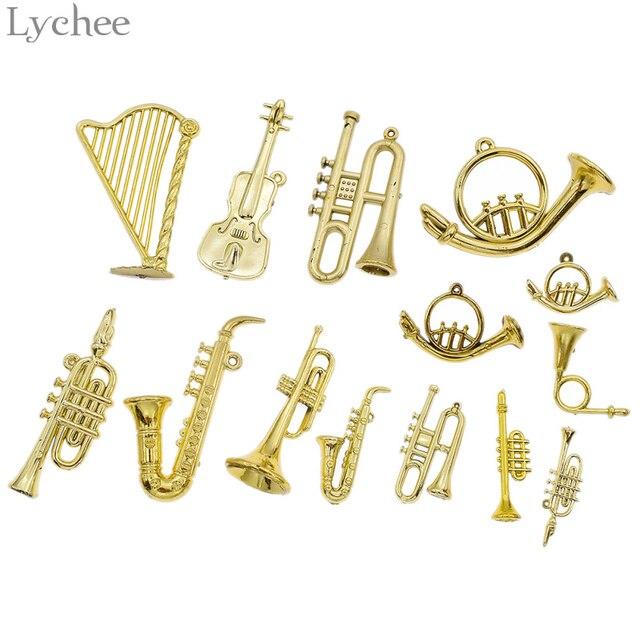 Lychee 10pcs Mini Musical Instrument Christmas Tree Ornament Xmas Tree  Hanging Drop Pendant DIY Christmas Party - Lychee 10pcs Mini Musical Instrument Christmas Tree Ornament Xmas