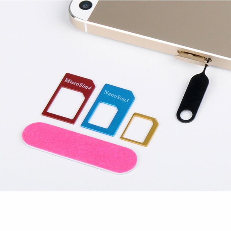 5 in 1 Adapters For Samsung Galaxy J1 J100F J100H J100M J100MU/DS Nano Micro Standard Sim Card Adapter abrasive Bar Card Pin