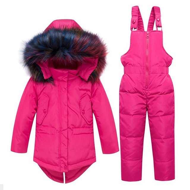8a3ece5e7 Winter Girls Ski Pants Windproof Overall Pants Tracksuits for ...