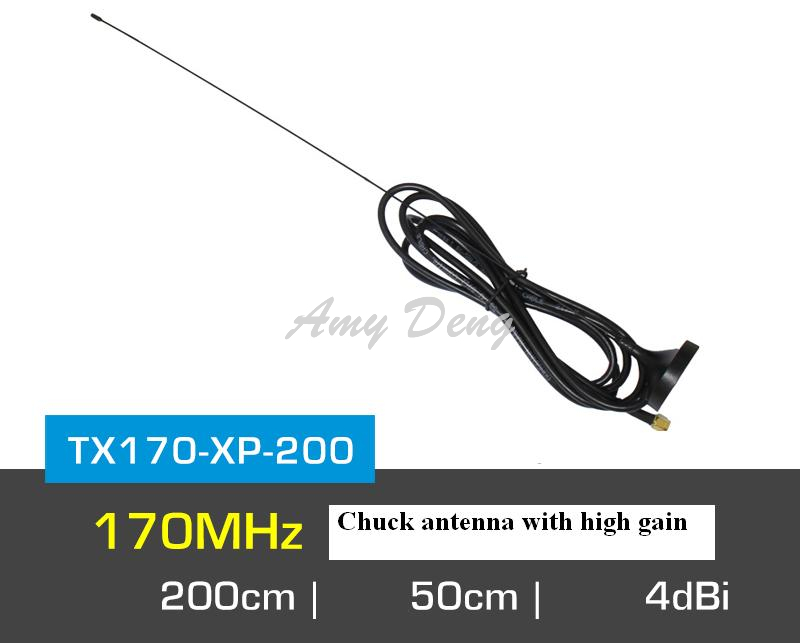 170M large suction cup antenna feeder 2 m high gain strong through diffraction 170MHz low frequency radio SMA